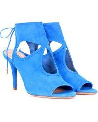 Aquazzura Sandalen Sexy Thing 85 - Blau