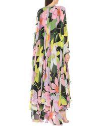 Richard Quinn Robe longue Hannah à fleurs - Multicolore