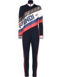 Fendi Mania Logo Piqué Jersey Jumpsuit - Multicolour
