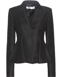 Victoria Beckham - Virgin Wool-blend Peplum Blazer - Lyst
