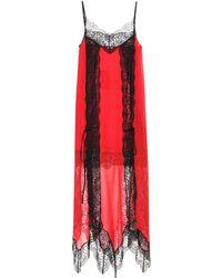 Silk and lace slip dress Christopher Kane JF1dZMq