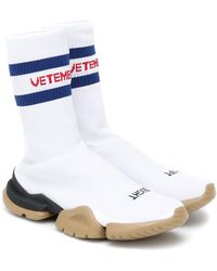 Vetements X Reebok Classic Sock Runner Sneakers - White