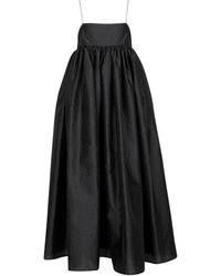 Cecilie Bahnsen Robe longue Beth - Noir