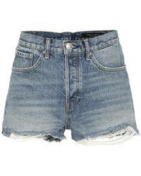 Rag & Bone Shorts di jeans Maya - Blu