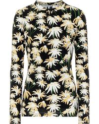 Loewe Floral Cotton T-shirt - Black