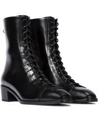Aeyde - Noel Leather Ankle Boots - Lyst