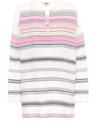 lemlem Kal Striped Cotton-blend Top - Pink