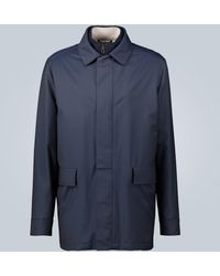 Loro Piana Veste Horsey Carcoat en laine - Bleu