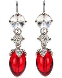 Miu Miu - Crystal-embellished Earrings - Lyst