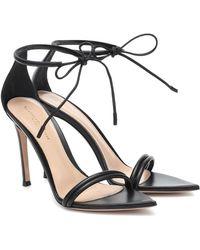 Gianvito Rossi Montecarlo Leather Sandals - Black