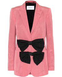 Racil Henry Cotton-blend Moire Blazer - Pink