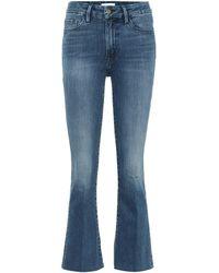 FRAME Mid-Rise Bootcut Jeans Le Crop Mini - Blau