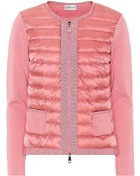 Moncler Quilted Down Cardigan - Pink