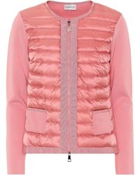 Moncler - Quilted Down Cardigan - Lyst