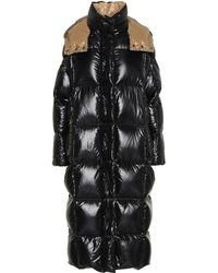 Moncler Parnaiba Long Nylon Puffer Coat - Black