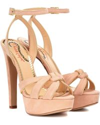 Charlotte Olympia - It Girl Suede Plateau Sandals - Lyst