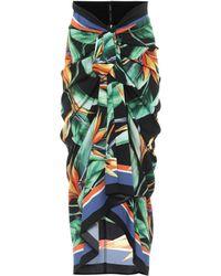 Dolce & Gabbana - Midirock aus Seiden-Charmeuse - Lyst