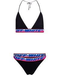 Off-White c/o Virgil Abloh Triangel-Bikini - Schwarz