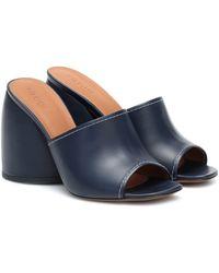 Neous Epige Leather Sandals - Blue