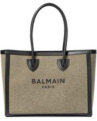 Balmain - B-army 42 Canvas Shopper - Lyst