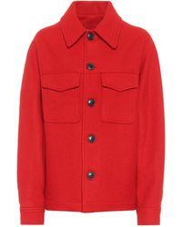 AMI Virgin Wool Jacket - Red