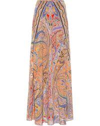 Etro Paisley-print Silk Crepe De Chine Maxi Skirt - Multicolor