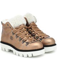 Bogner Copenhagen Leather Snow Boots - Metallic
