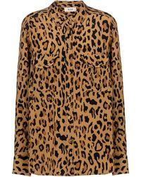 Blazé Milano Berber Leopard-print Silk Shirt - Brown
