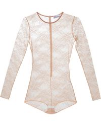 RED Valentino Floral Lace Bodysuit - Multicolor