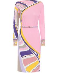 Emilio Pucci Printed Crêpe Dress - Pink
