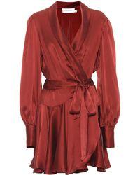 Zimmermann Silk Minidress - Red