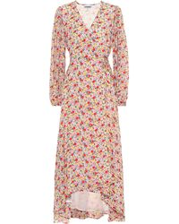Ganni Exclusive To Mytheresa – Floral Georgette Wrap Dress - Pink