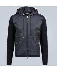 Moncler Panelled Zip-up Cardigan - Blue