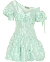 Preen By Thornton Bregazzi Janine Taffeta Minidress - Green