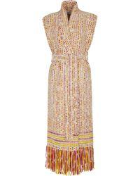 Gabriela Hearst Tanoira Sleeveless Cashmere Vest - Multicolour