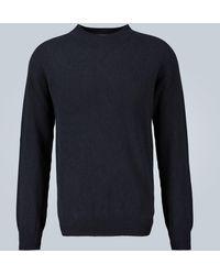 Sunspel Pullover in lana - Blu