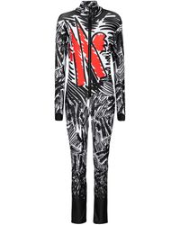 Moncler Genius 3 Moncler Grenoble Printed Ski Suit - Black