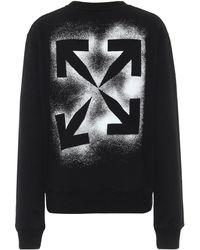 Off-White c/o Virgil Abloh Logo Cotton Sweatshirt - Black