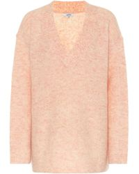 Ganni Pullover Soft Wool Knit - Pink