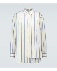 Lanvin Asymmetric Cotton Poplin Shirt - White