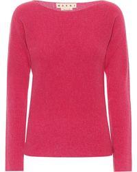 Marni Carded Virgin Wool Sweater - Pink