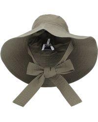 Ganni Sombrero de ala ancha de algodón - Verde