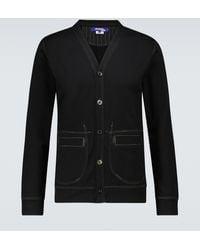 Junya Watanabe Embroidered Cotton Jersey Cardigan - Black