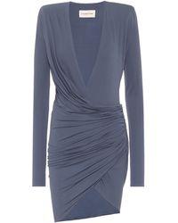Alexandre Vauthier Stretch-jersey Minidress - Blue