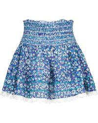 Poupette Exclusivité Mytheresa – Mini-jupe Galia en coton à fleurs - Bleu