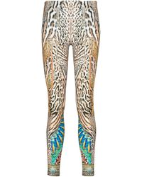 Camilla Leopard-print leggings - Brown