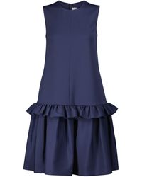 Victoria, Victoria Beckham Faille Peplum Dress - Blue