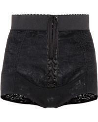 Dolce & Gabbana Lace-up Shorts - Black