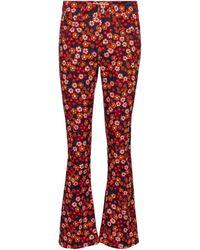 Marni Bedruckte Mid-Rise Flared Jeans - Schwarz