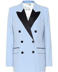 Racil Harry Wool Tuxedo Blazer - Blue